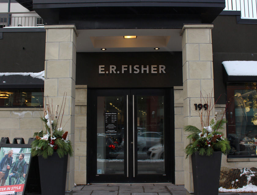 Over the course of more than 100 years and four generations of family members, E. R. Fisher has strived to build a reputation founded on providing high quality Canadian-made menswear and a unique customer experience. [Photo © Amanda van Frankfoort]