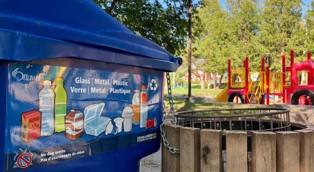 Waste not, want not in blue bins placed in Ottawa parks