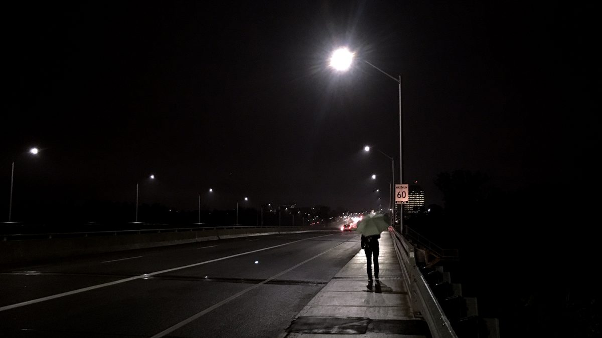 Those bright white streetlights are part of Ottawa's conversion to LED