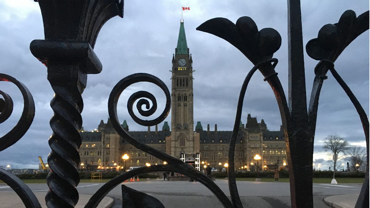 Bells of Peace ring in Ottawa at sunset on Remembrance Day