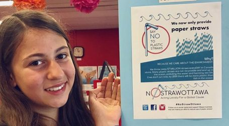 High school activist aims to eliminate plastic straws in Ottawa