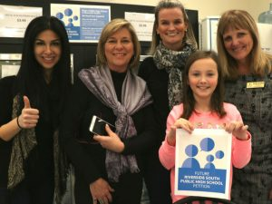Neighbourhood advocates gathered at the Riverside South high school petition drive. Pictured are MPP Goldie Ghamari, Coun. Carol Anne Meehan, petition drive organizer Laurie Rogers, student Rachel Rogers and OCDSB trustee Jennifer Jennekens.
