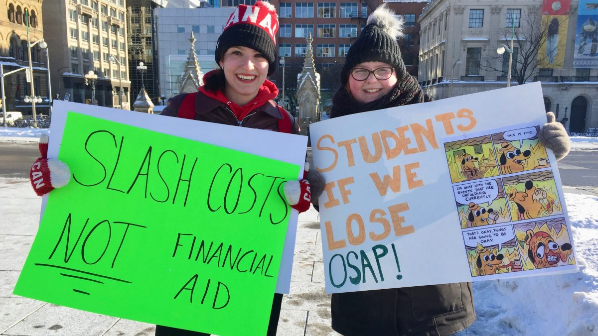 Students take post-secondary funding protest to Parliament Hill