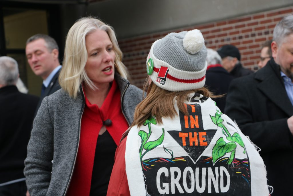 Catherine McKenna, climate change, protest