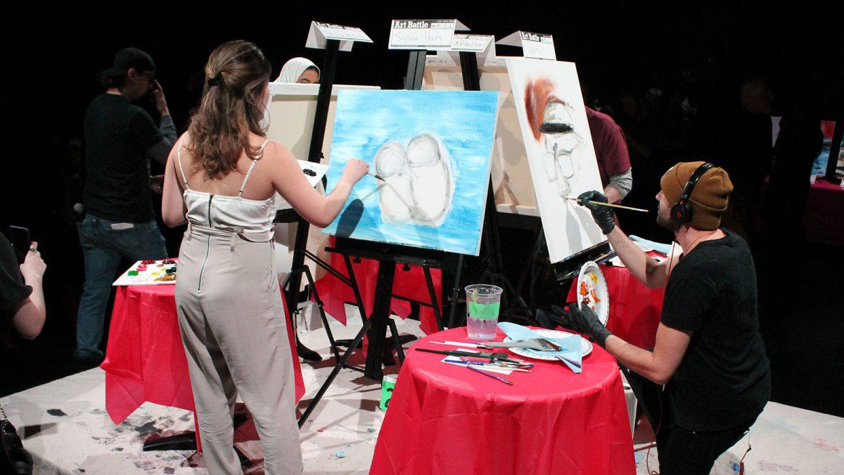 Art Battle brings out local artistsand hidden talent