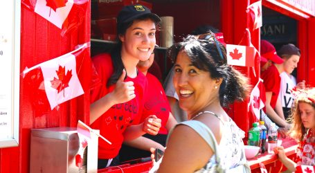Celebrating Canada Day downtown in photos