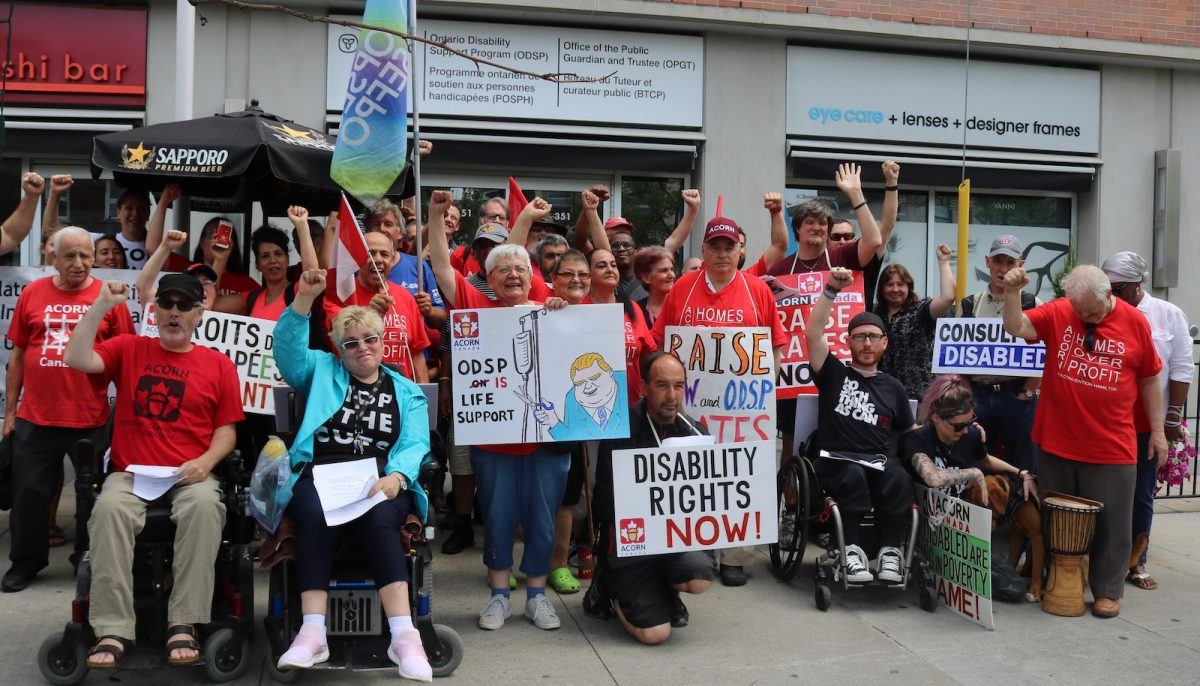 Members of disability community protest new ODSP disability definition