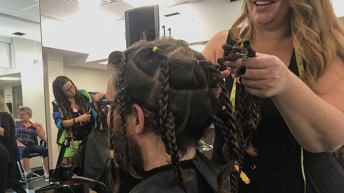Record number of donors trim their hair for cancer research