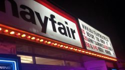 A photo of the Mayfair Theatre's Marquee