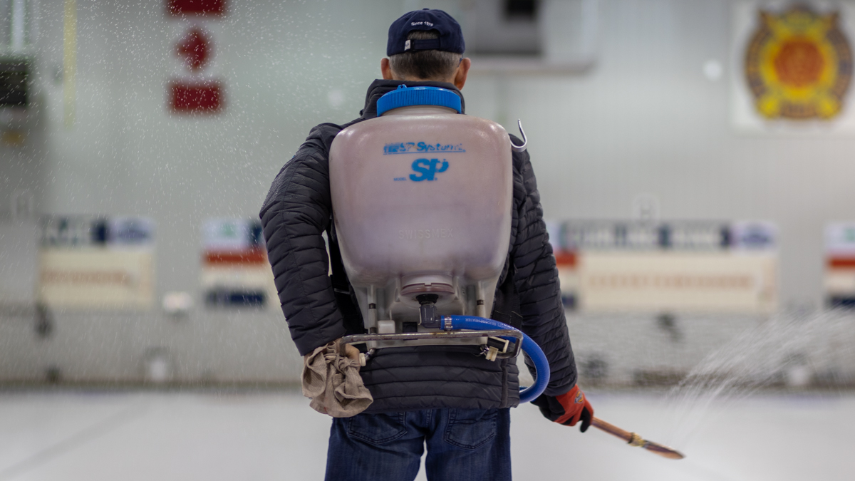 Behind the scenes at the curling club: making sure the ice is nice