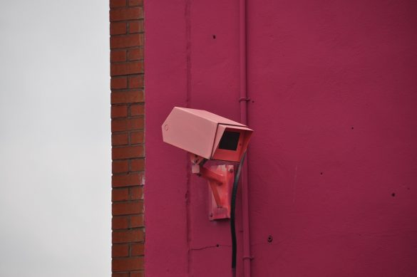 Security Camera in Indigo Parking Lot