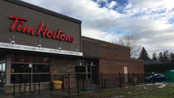 The Tim Hortons at the Alta Vista Plaza.