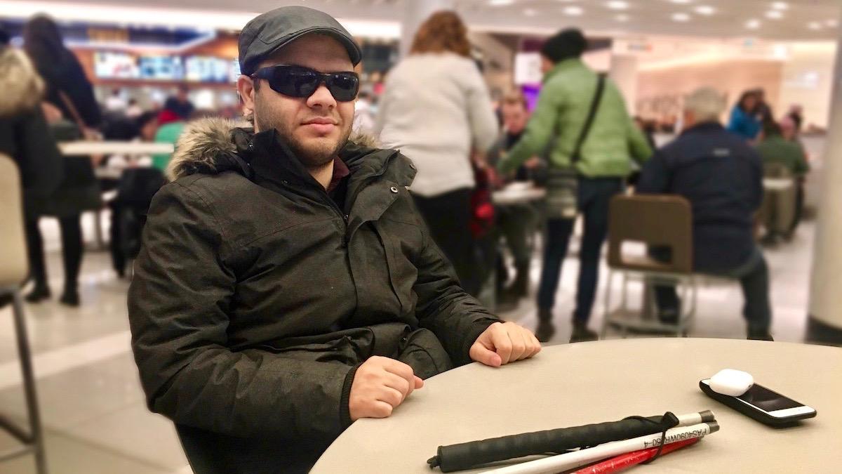 Despite his blindness, Mustafa Al-Humairi has always had faith in himself