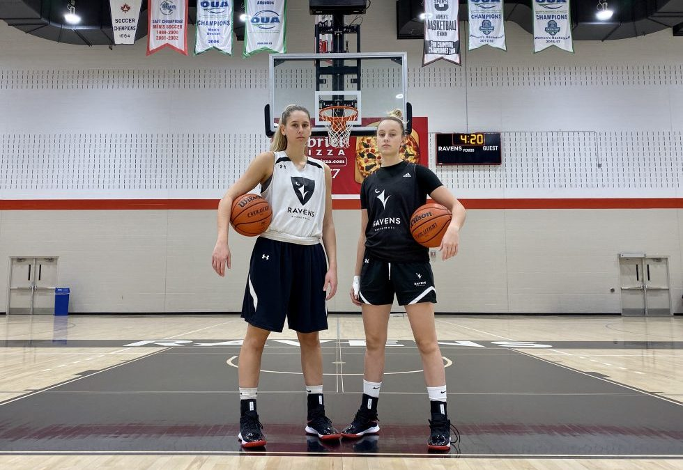 Carleton Ravens female basketball players inspiring others to step out of men's shadow