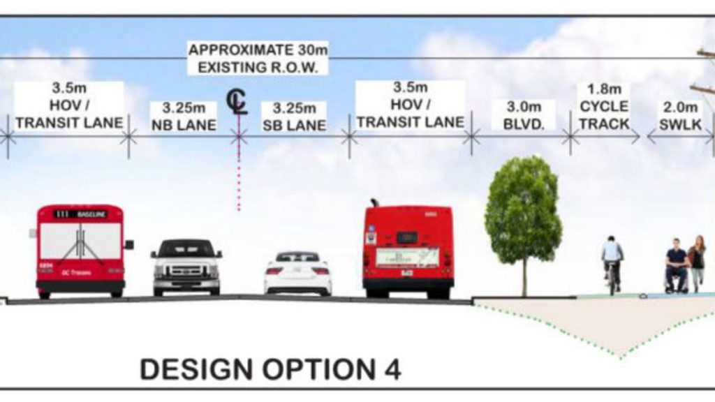 A design for an expansion of Blair Road.