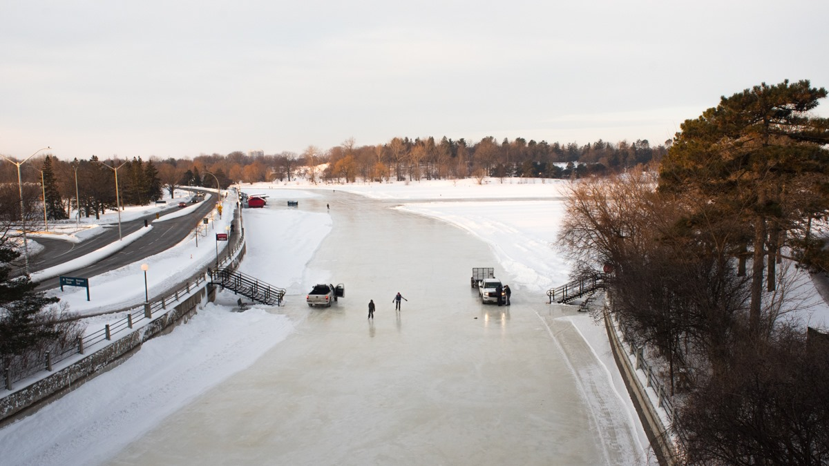 Ottawa's unpredictable winters force the Rideau Canal Skateway to acclimate