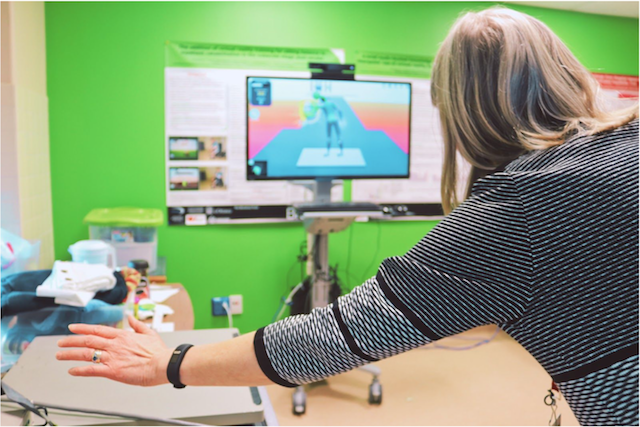 Virtual reality helping stroke patients rehab