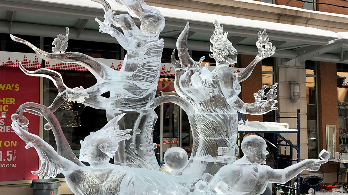 Carvers take up the challenge of turning ice into art at Winterlude
