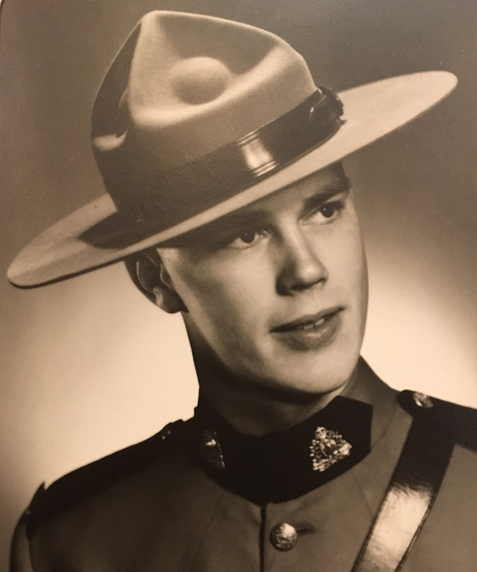 Photo of Dave Van Norman, the great uncle of Elenore Sturko in his RCMP uniform.