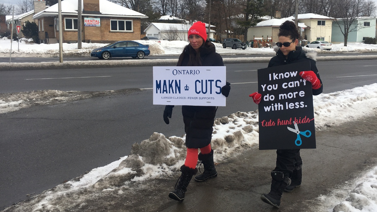 English Catholic teachers hold one-day provincewide strike with more action to come