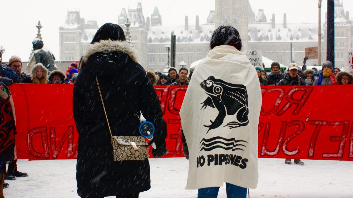 Hundreds march through downtown Ottawa in solidarity with Wet'suwet'en