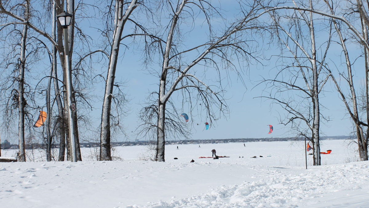Britannia Bay is the home to several kiteboarders when the windy weather conditions are just right.