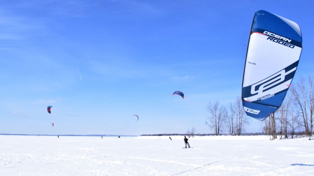 The right wind conditions allow Campbell to take off.