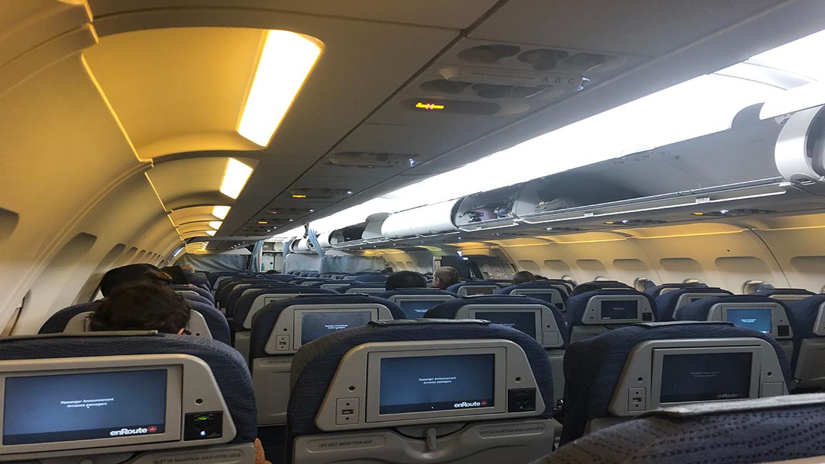 Image of mostly empty flight
