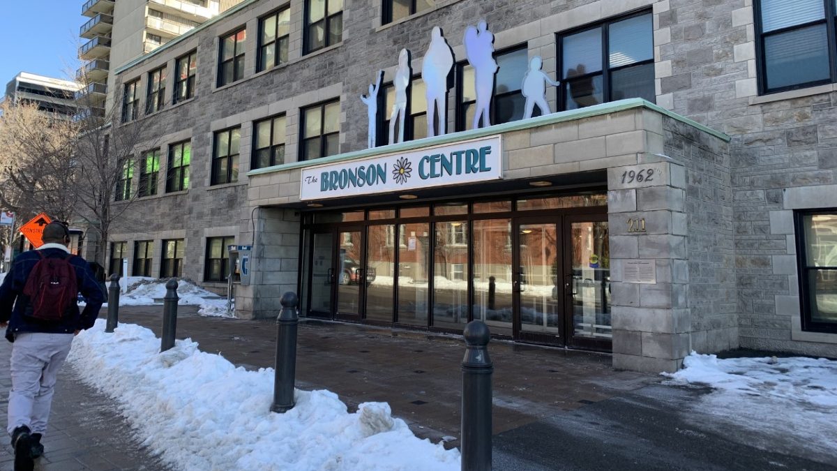 A photo on the outside entrance of the Bronson Centre