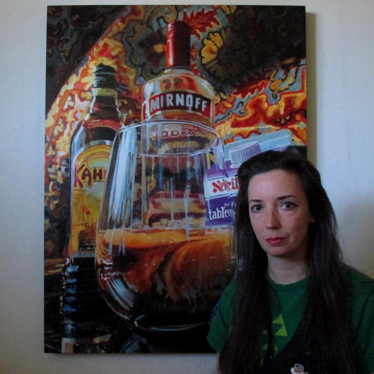 """White Russian"" 30""x40"" oil on panel [Photo courtesy of Jennifer Kershaw]"