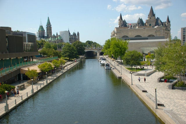 Photo of the Rideau Canal in Ottawa.