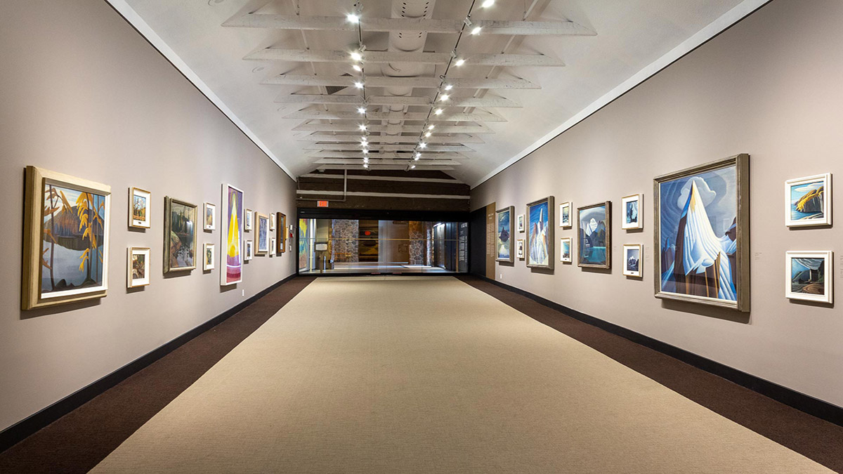 Inside of an art gallery