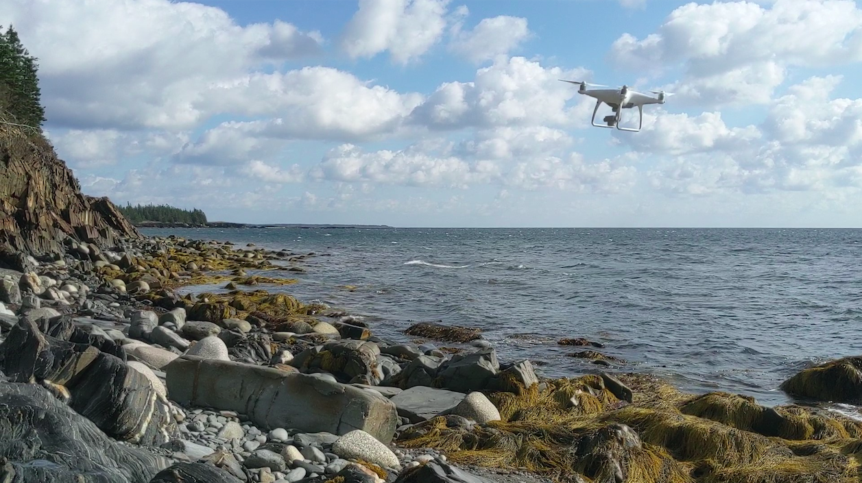 A drone captures pictures of the Nova Scotian coastline. The images are part of a new virtual fieldtrip. (Photo provided by Mike Young)