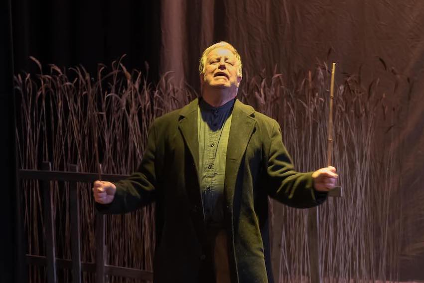 Picture of Tom Charlebois in the production of Dancing at Lughnasa, the final production that was done at The Gladstone Theatre before COVID hit.