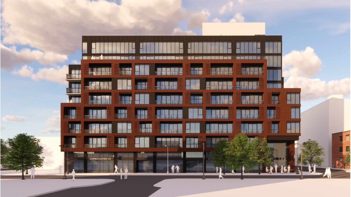 Design by RAW Design of the redevelopment of 390-394 Bank Street on the corner of James Street.