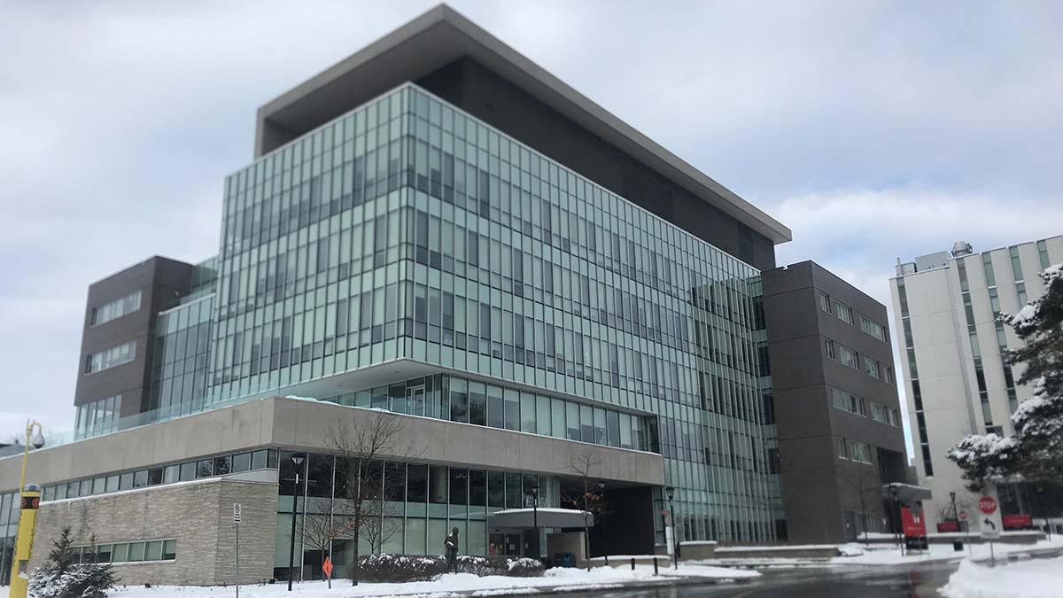 Richcraft Hall at Carleton University in Ottawa, photo taken Jan. 27, 2021, by Sami Islam.