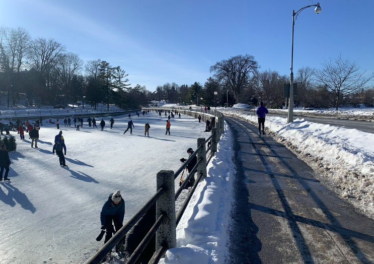 Skaters enjoy good conditions in canal's opening weeks despite  tightened COVID-19 rules
