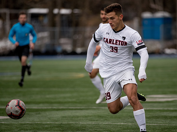 CPL Draft Soccer Player chases ball down the field