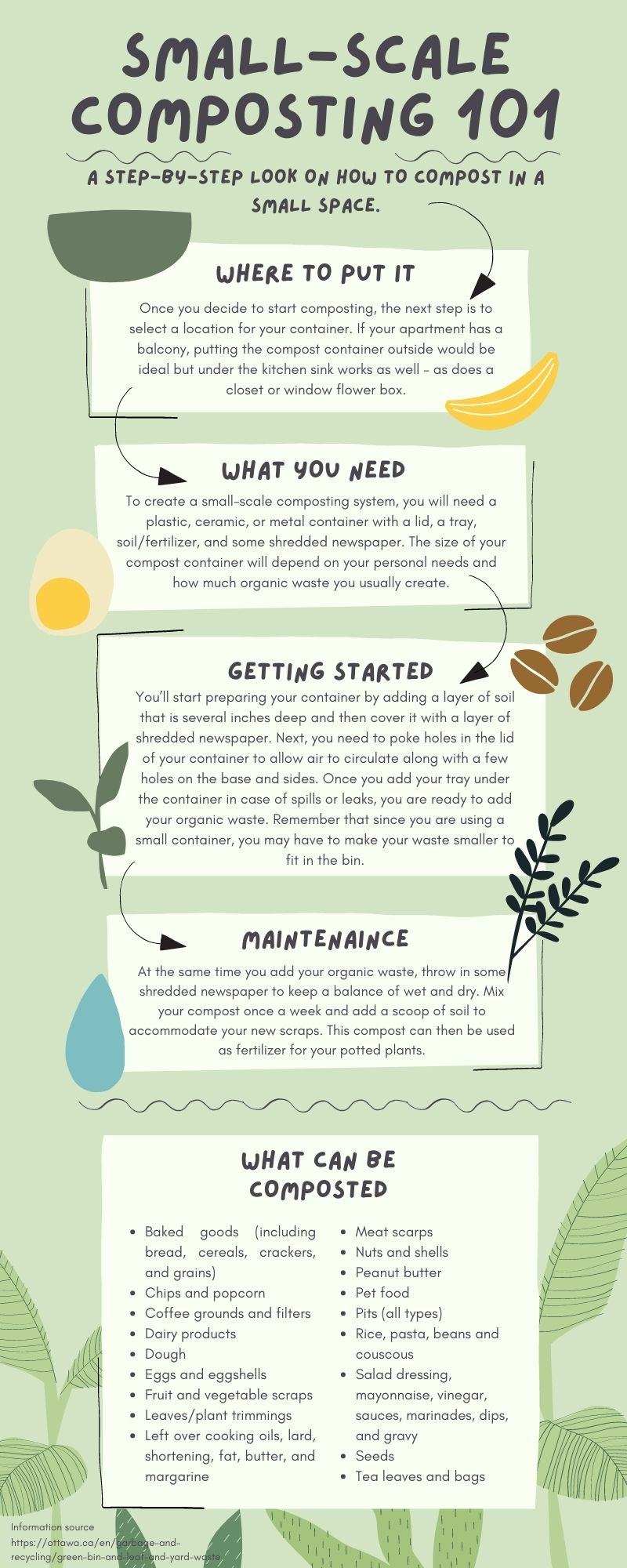 step by step guide to compost on a small-scale