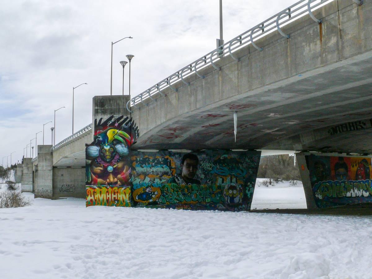 Dunbar Bridge has become a pillar of city's vibrant graffiti, hip-hop scenes