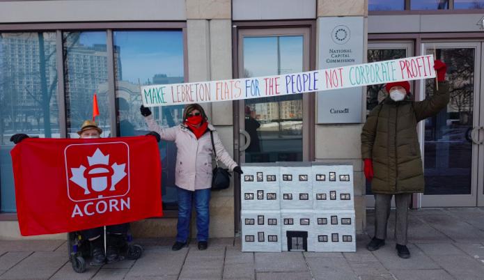 ACORN Ottawa pushes NCC for more affordable housing at LeBreton Flats