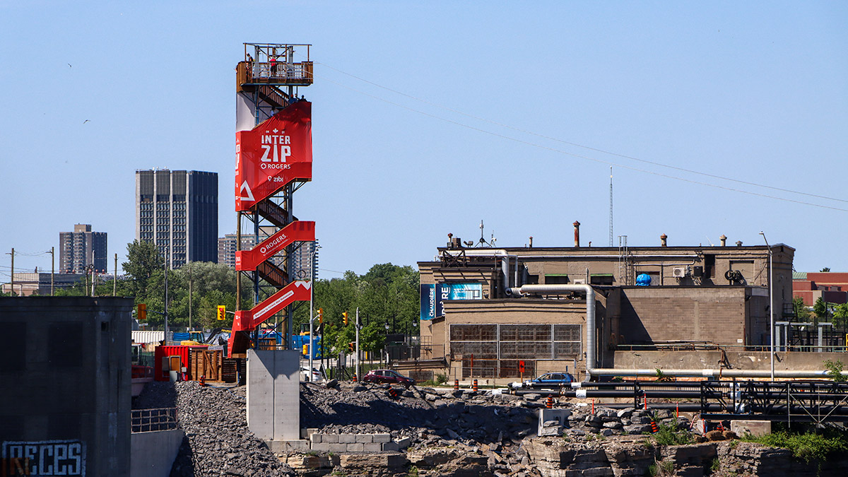 The Interzip Rogers tower is pictured on Chaudière Island.