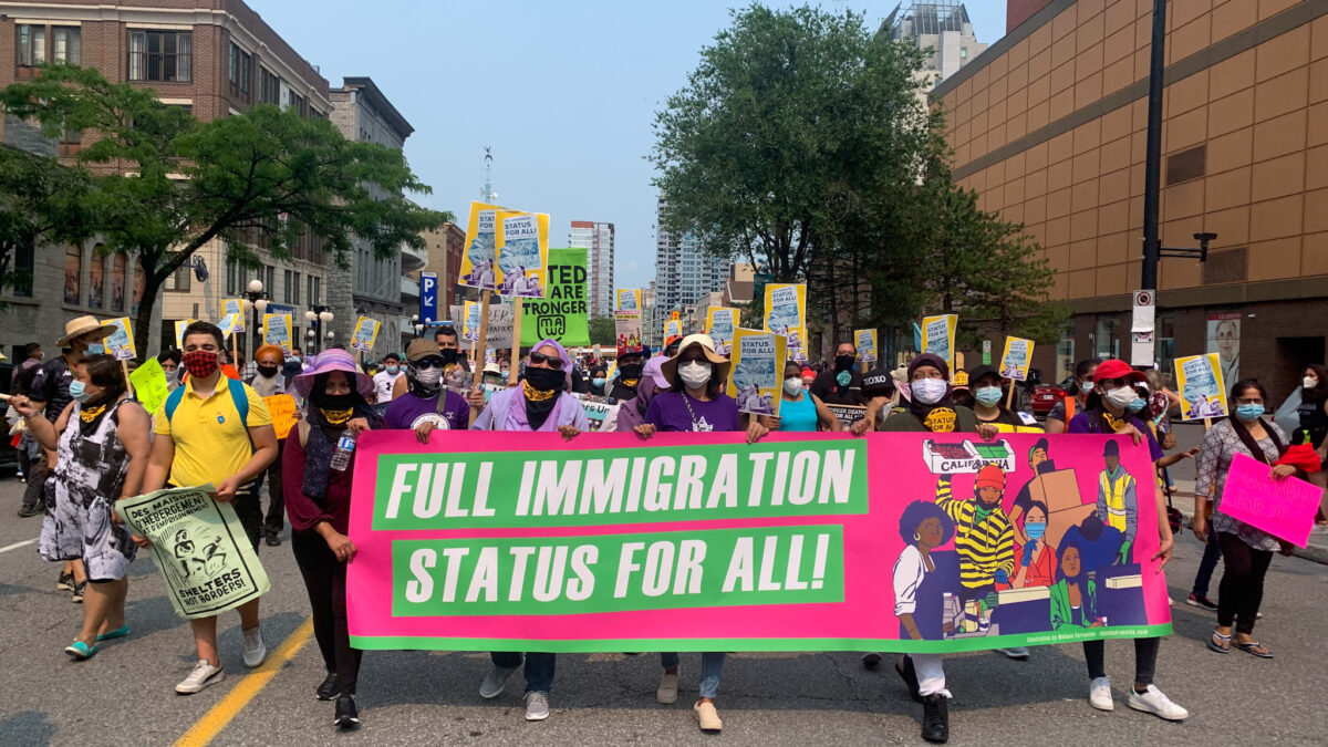 Migrants, refugees call on the federal government for meaningful immigration reform allowing access to permanent residency