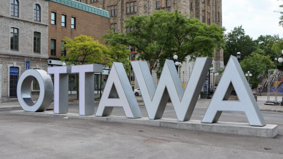 The Ottawa sign in the ByWard Market.