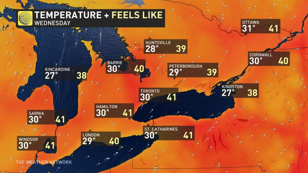 Heatwave and severe storms to roil  Ontario