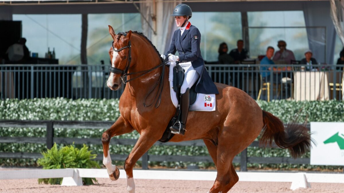 Olympian Brittany Fraser-Beaulieu sets Canadian freestyle dressage record in Tokyo with her horse All In