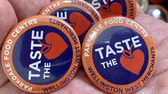 pins featuring taste the love logo